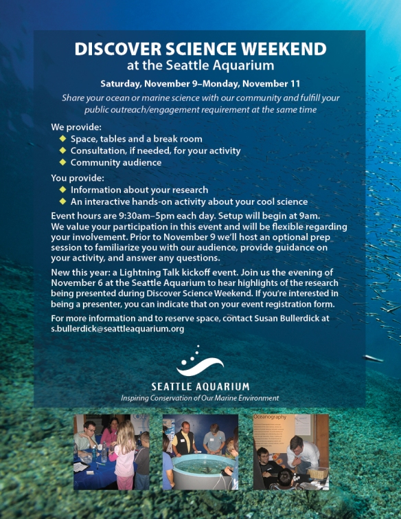 Discover Science Weekend at the Seattle Aquarium