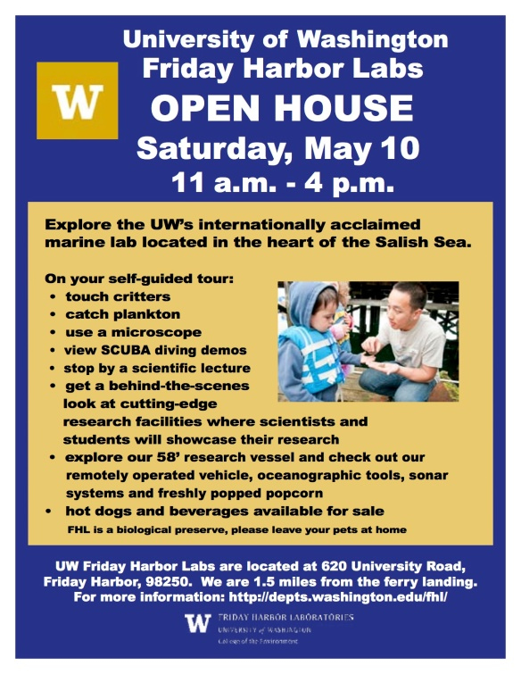 Friday Harbor Labs Open House - Saturday, May 10 11AM -4 PM